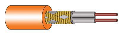 Структура нагревательного кабеля Ceilhit 22 PSVD / 18 145